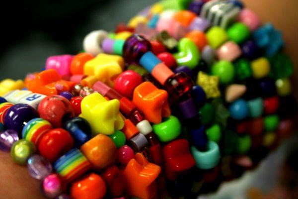 my friends rainbow bracelets