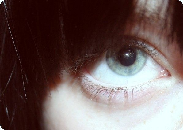 my eye and a bit of hair