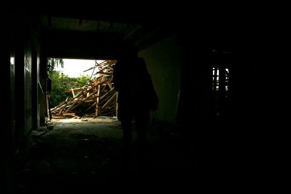 inside the abandoned hospital