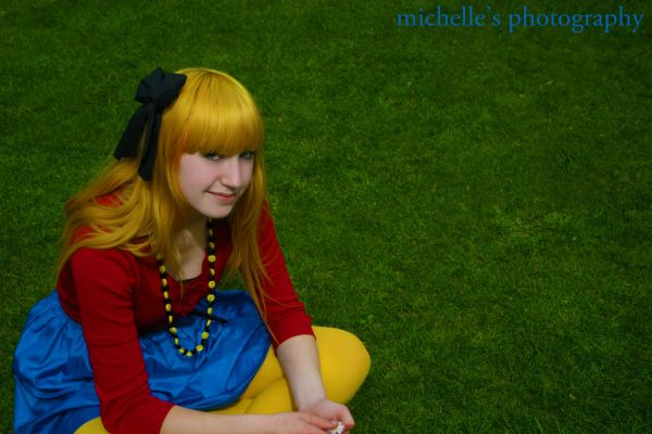 primary colour girl yellow hair