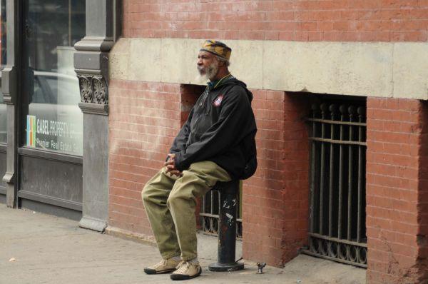 Man on a city street