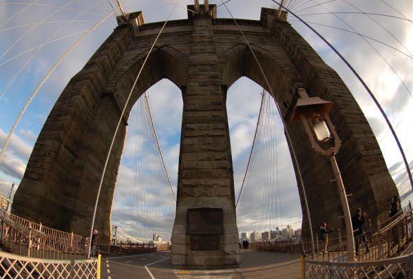 Fisheye View of the Brooklyn Bridge