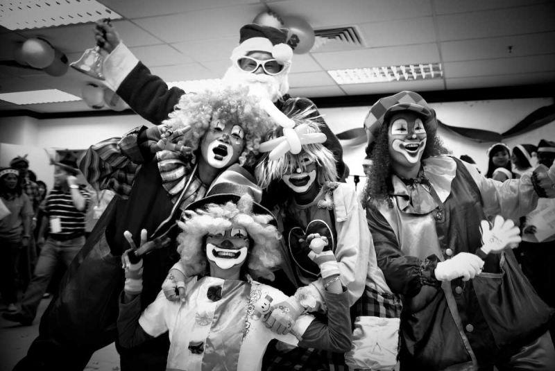 clowns and santa