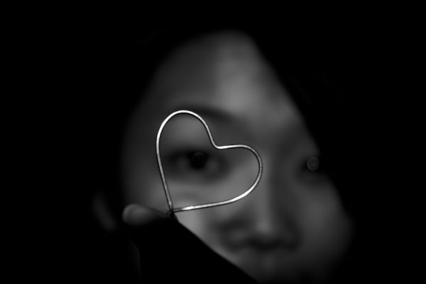 seeing love through a bent paper clip?