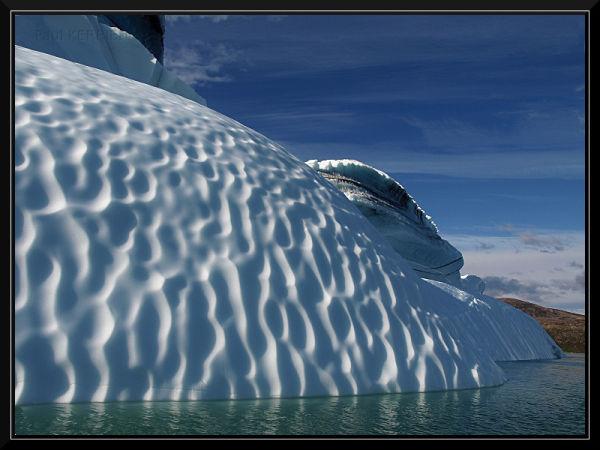 cruising very close to the icebergs