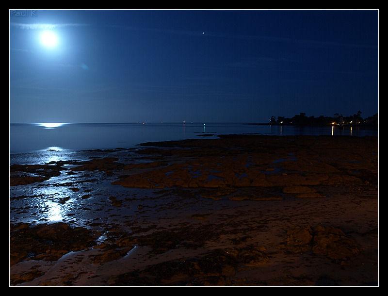nuit rivage lune pose-longue