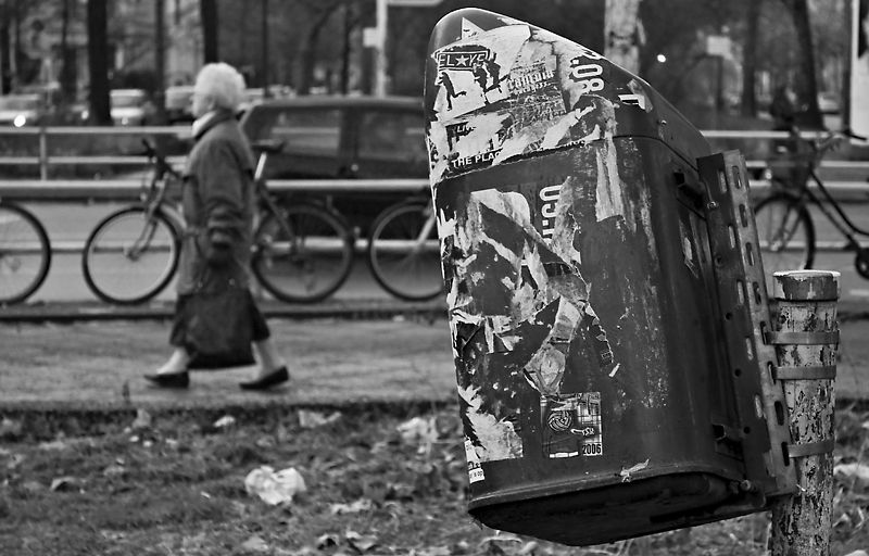 Taking (it) out (on) the trash