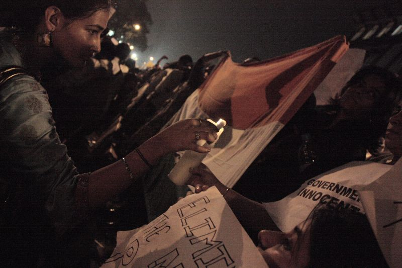 protest against terrorism at gateway of India