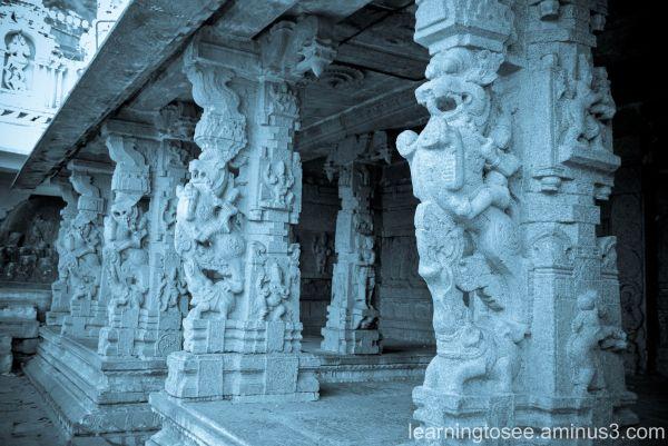 Sculpture @ Shiva temple in Shivagange.