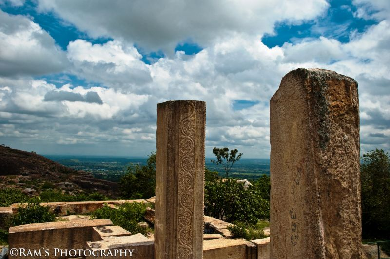 View on top of the Rayagopura...