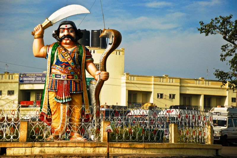 Statue of Mahishasura in Chamundi Hills, Mysore.