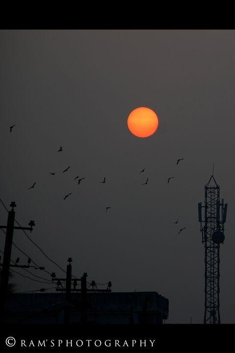 First Flight @ dawn in mysore.....