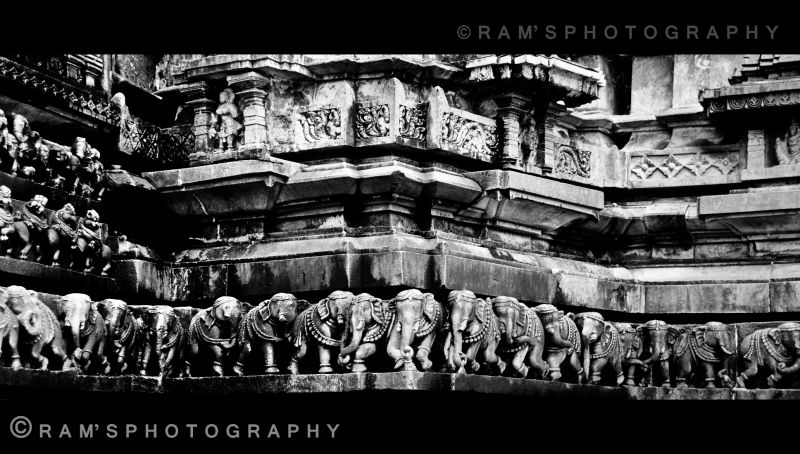 A Wide view of the 812 years Old Sculptures....