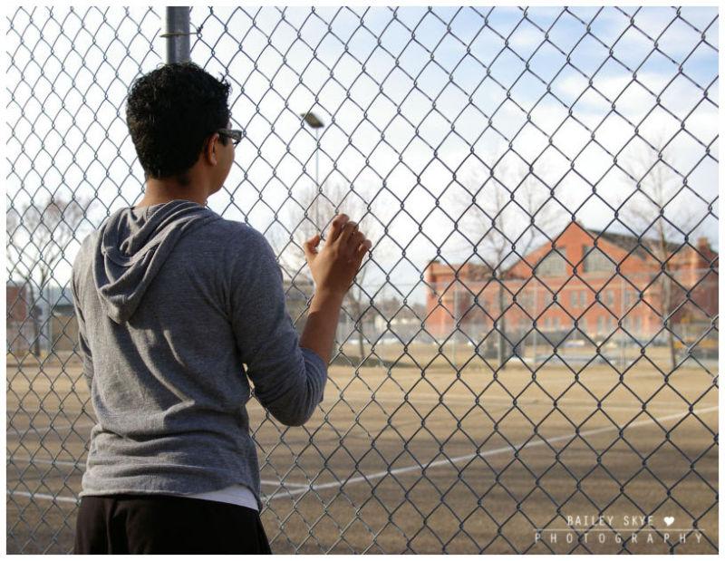 Jason Holds A Fence