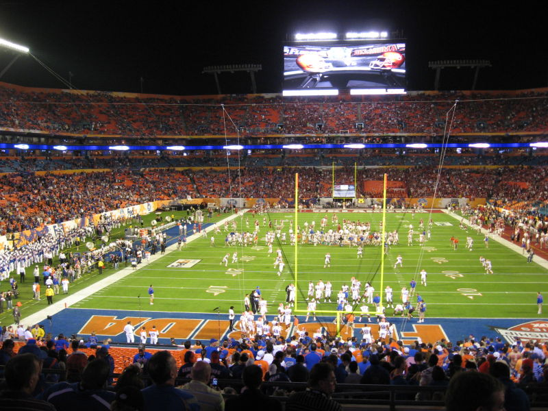National Championship game between Gators & Sooner