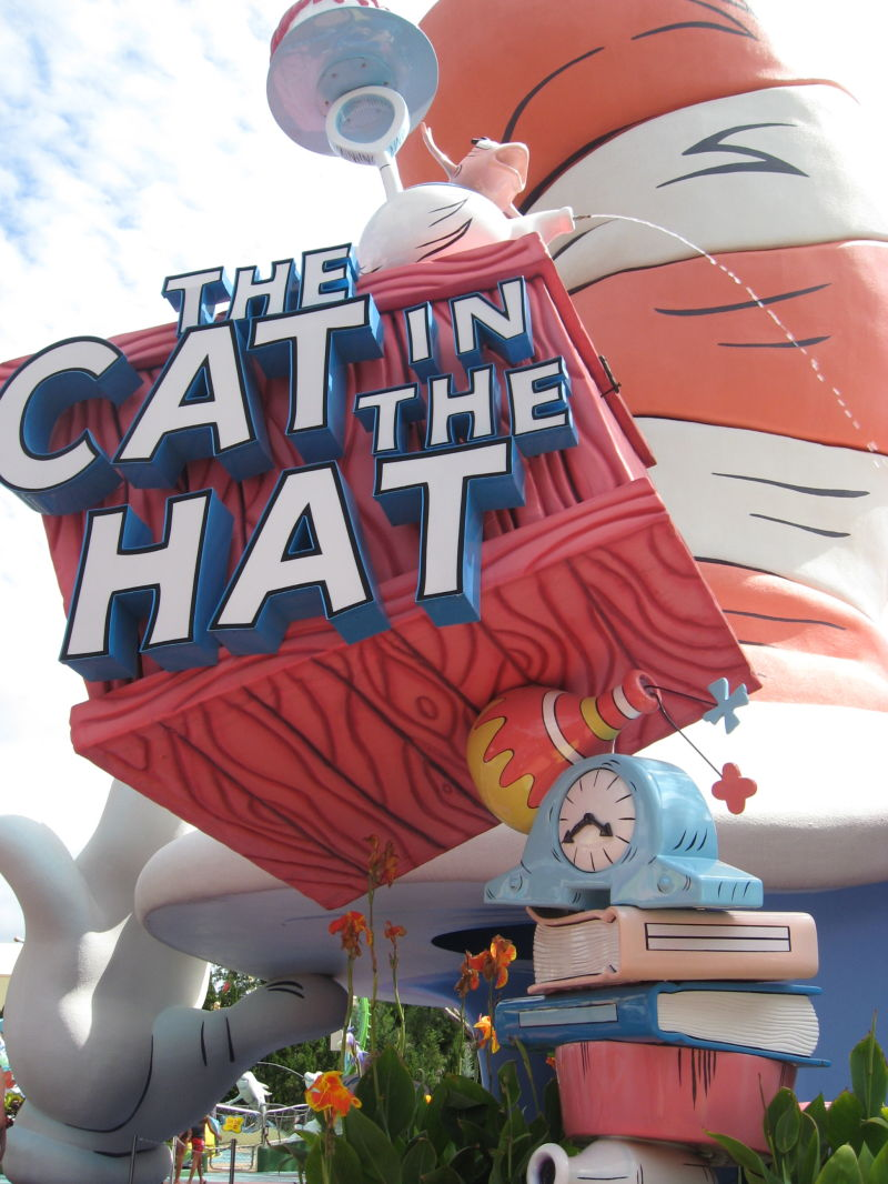 Cat and the Hat ride at Islands of Adventure