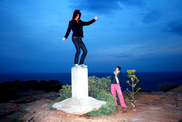Dancing on a pilar at the Sounio ancient site