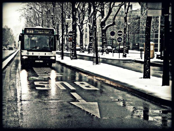 Neige à Paris, piétons évanouis