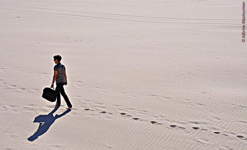 Femme d'affaires de sable