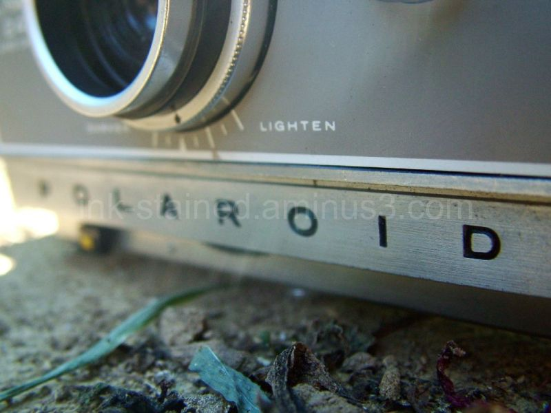 An old polaroid camera