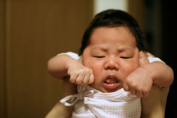 baby angry