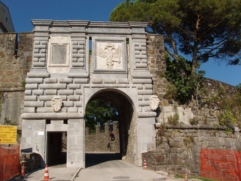 The entrance to the castle Borgo year 1660
