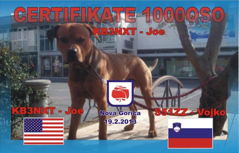 Certifikate 1000 qso