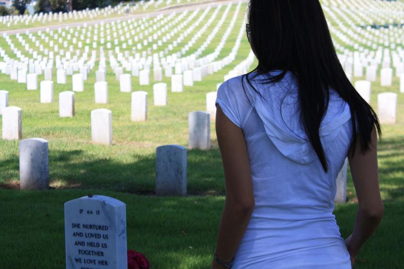 Visiting the Veterans Memorial Cemetary West LA