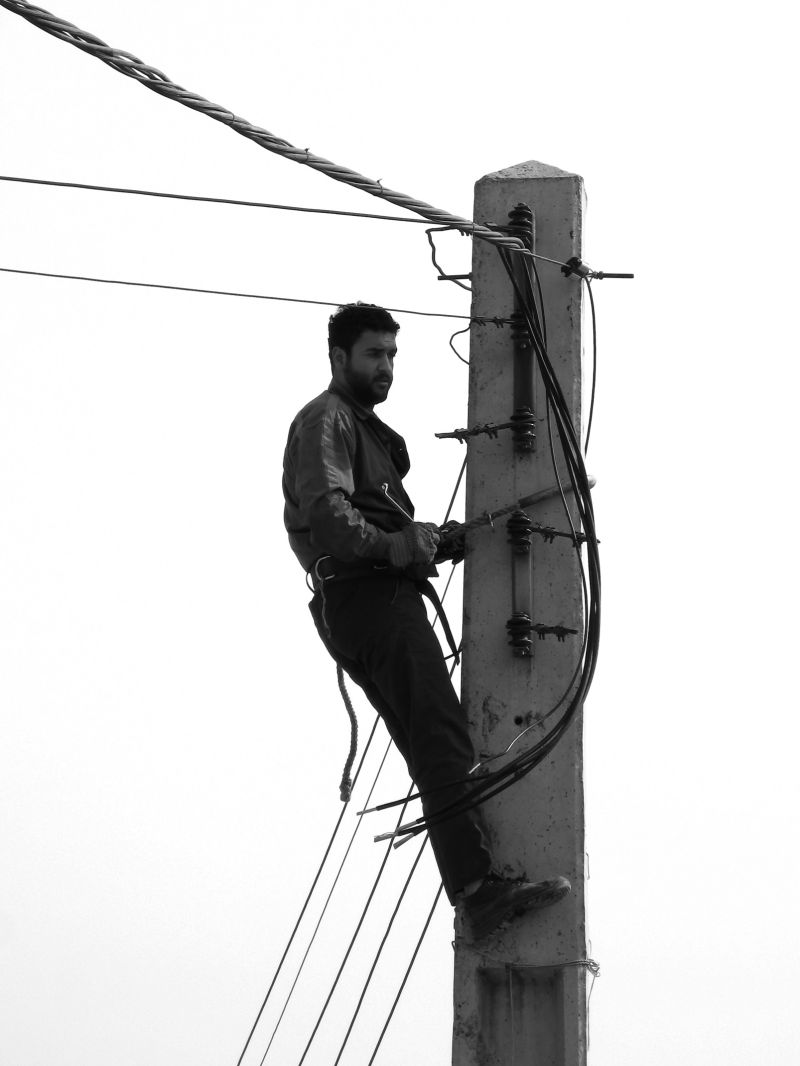 A Man And Cables
