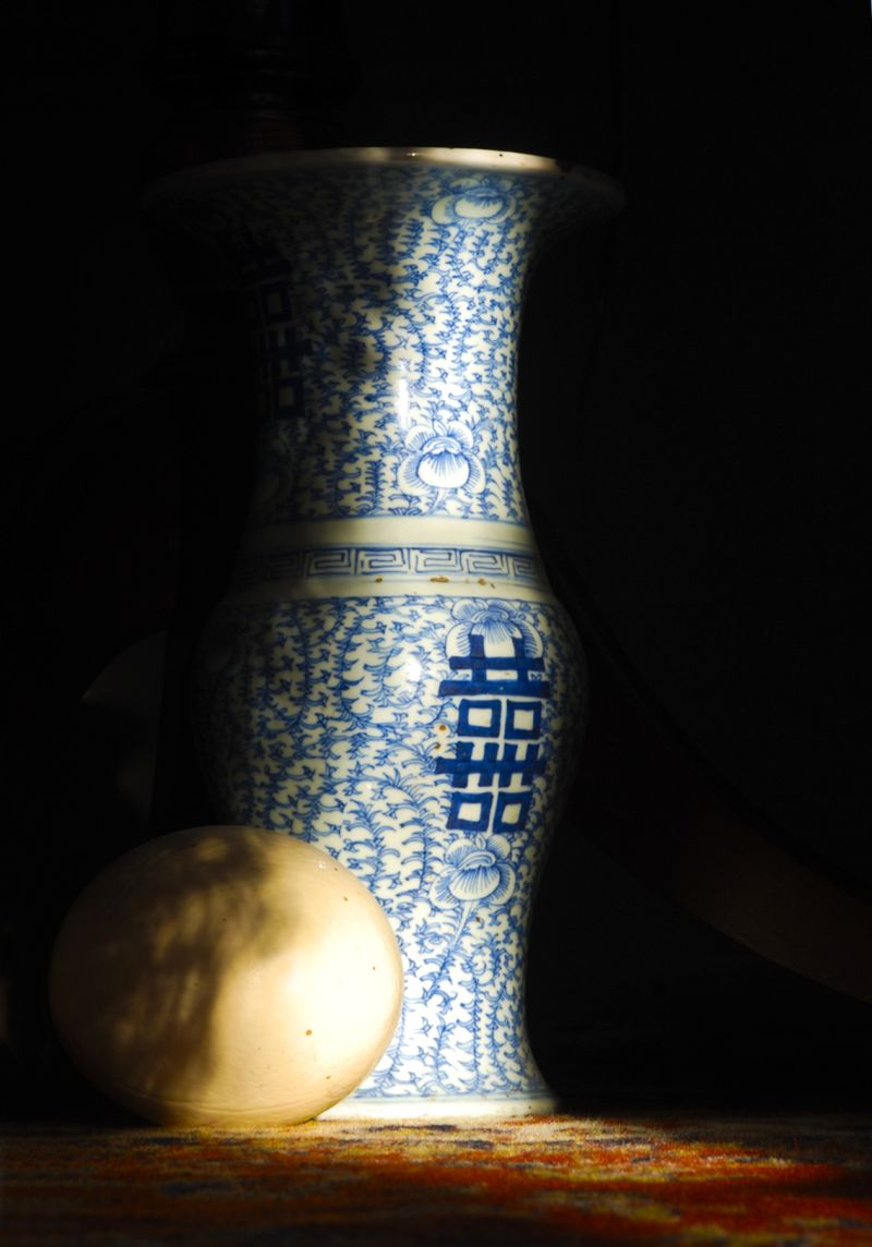 chinese vase ostrich egg