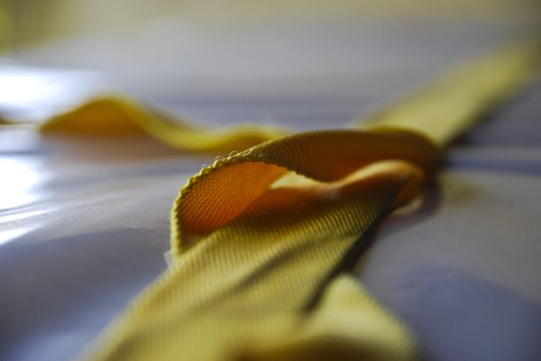 yellow cargo strap
