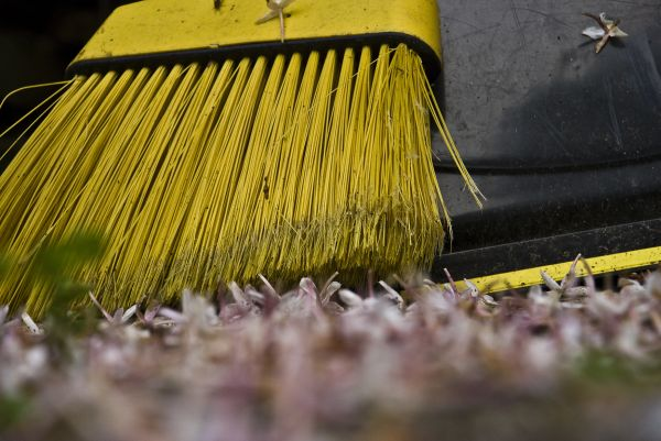 sweeping up broom