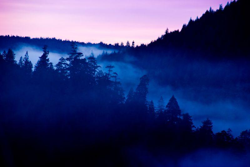 sonoma mountains sunset