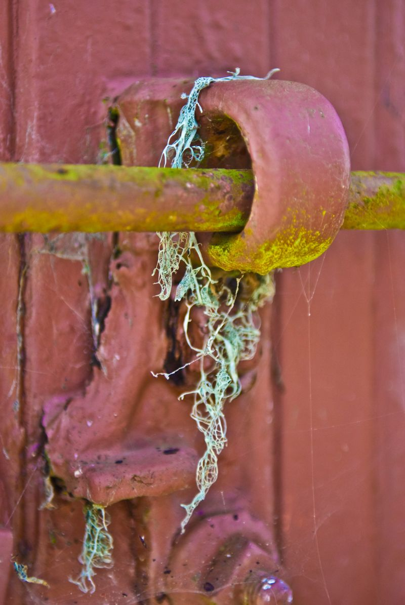 rusty railroad caboose hardware