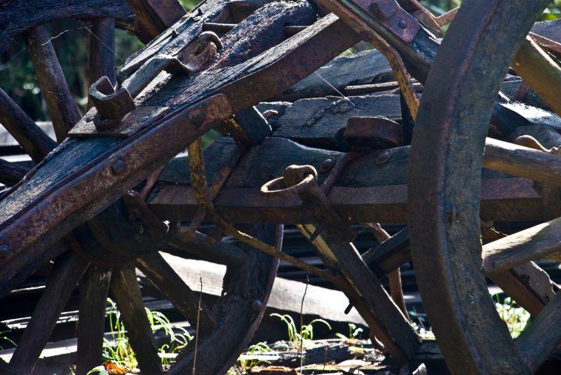 abandoned wagons