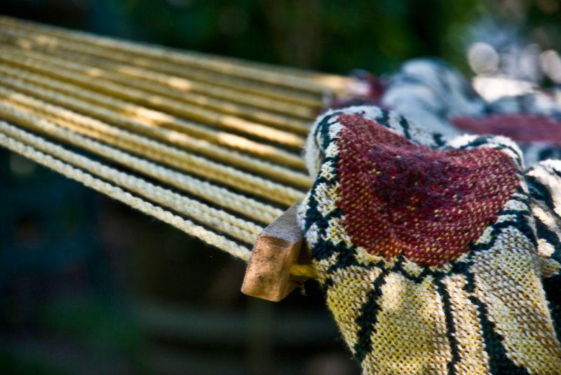 rest stop, hammock