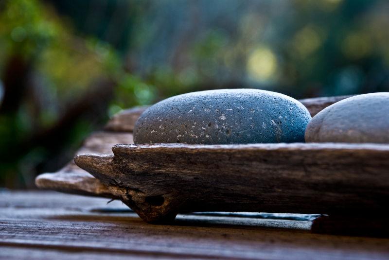 moss stone wood