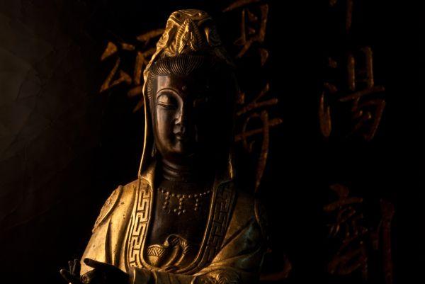 chinoiserie duncan phyfe kwan yin gold