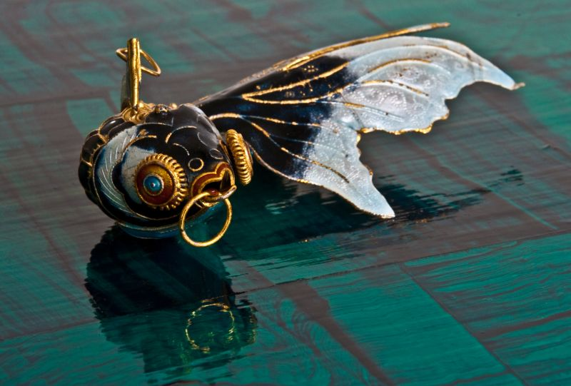 cloisonne goldfish ornament