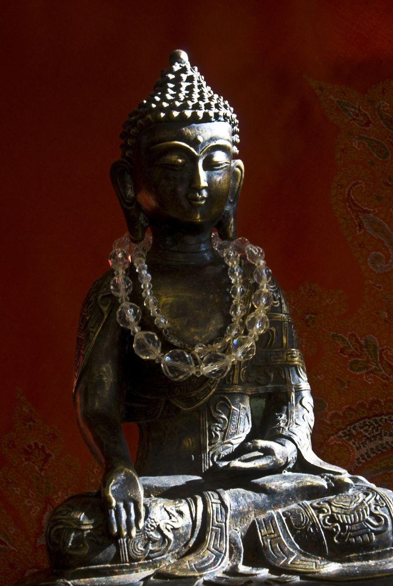 buddha paisley red