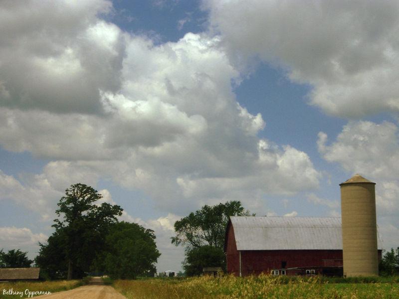 A barn near Westphalia, Michigan