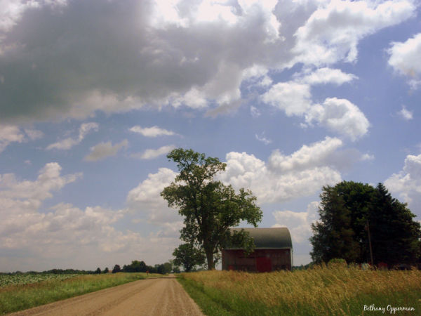 Barn and Country Road 2