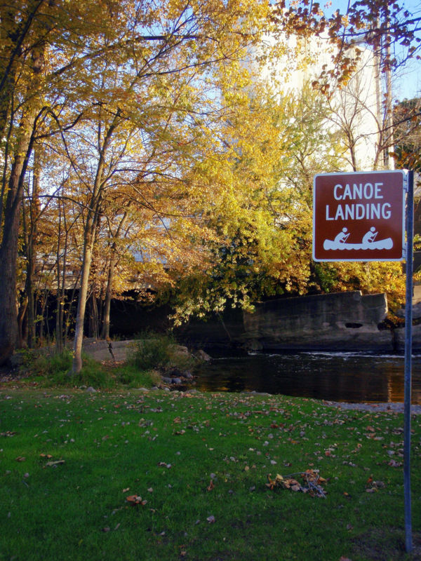 Canoe Launch in the Fall