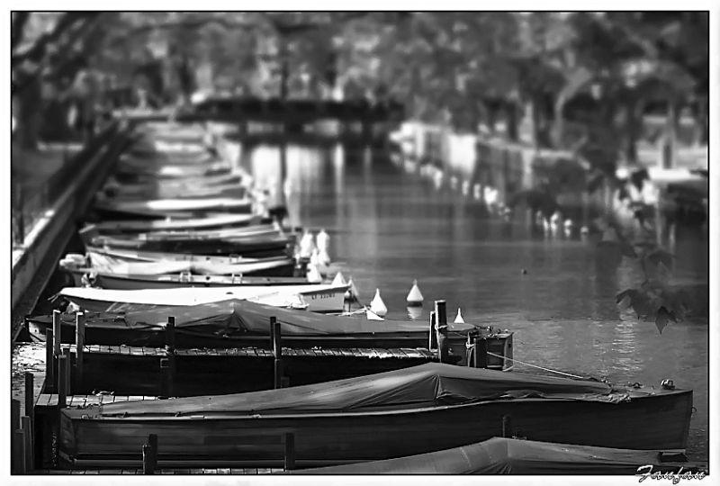 le port à Annecy..les bateaux