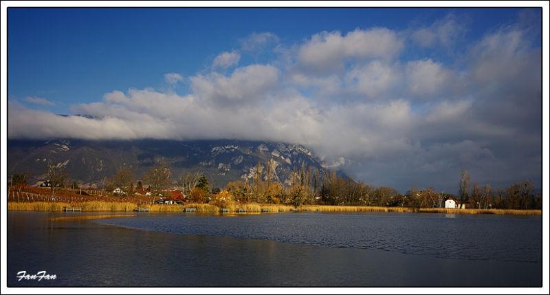 lac saint-andré sous les glaces...