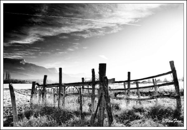 noir&blanc,montagne,croix du nivolet,savoie,barriè