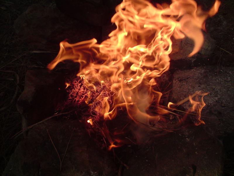 Fire can be beautifu.