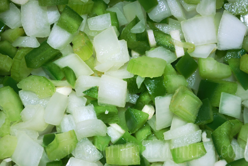 Green peppers and onions