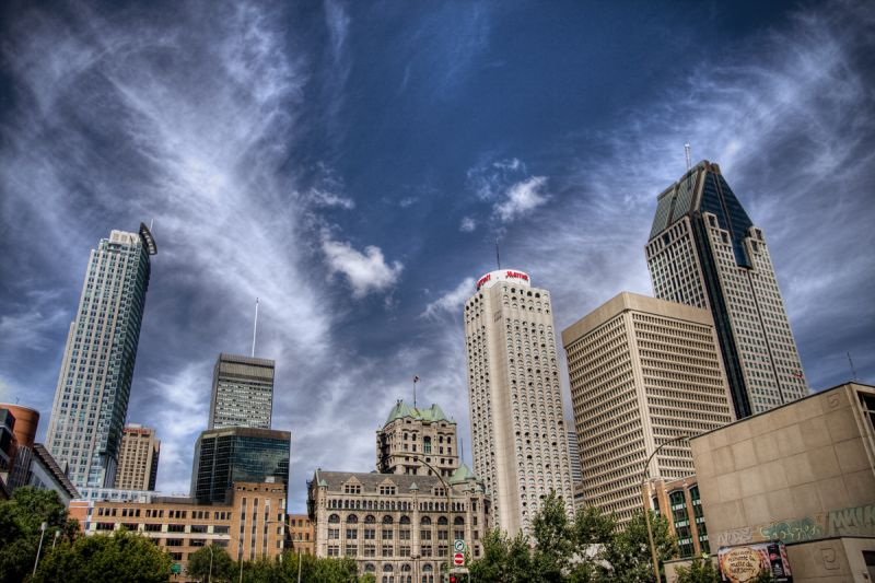 A shot of downtown Montreal