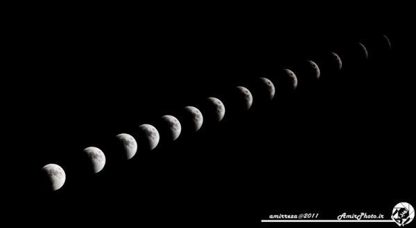 eclipse iran Lunar timelaps